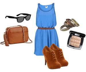 blue, dress, and bracelets image