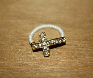 beaded, cross, and gold image