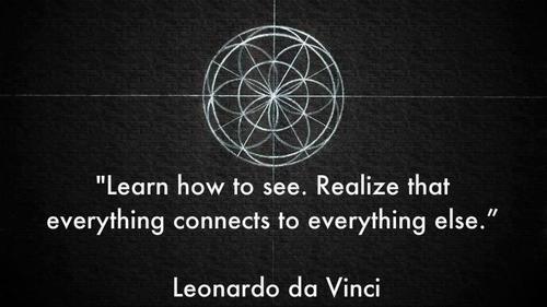 Leonardo da Vinci and quote image