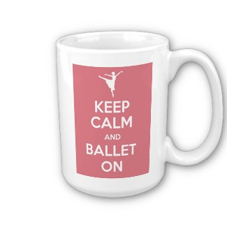 ballerina, ballet, and coffee image