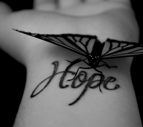 hope, tattoo, and butterfly image