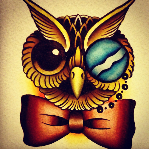 owl and vintage image