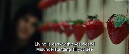 Across the Universe, strawberry, and quotes image