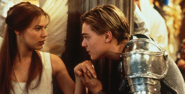 juliet, romeo, and leonardo dicaprio image