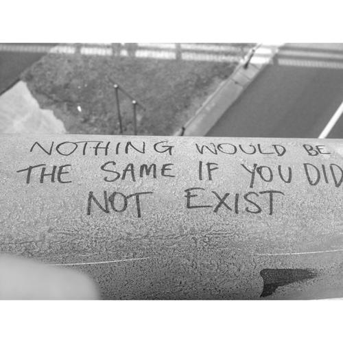 quote, exist, and black and white image
