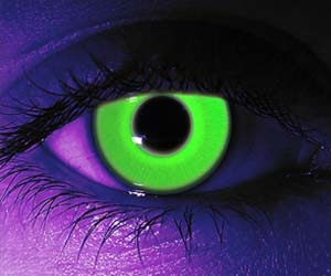 eyes and neon image