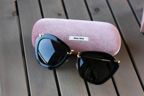 sunglasses, miu miu, and black image