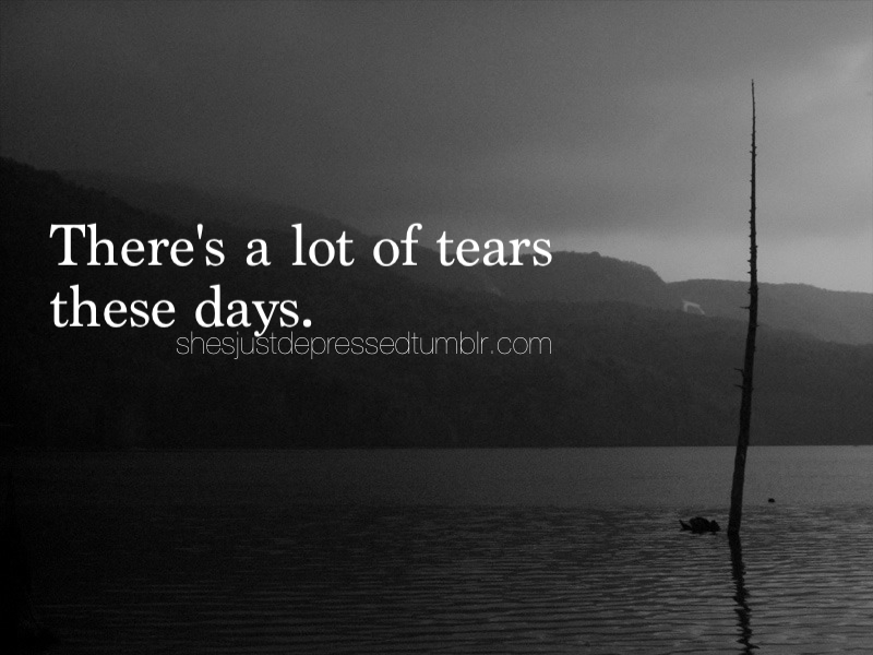 cry, depressed, and quote image