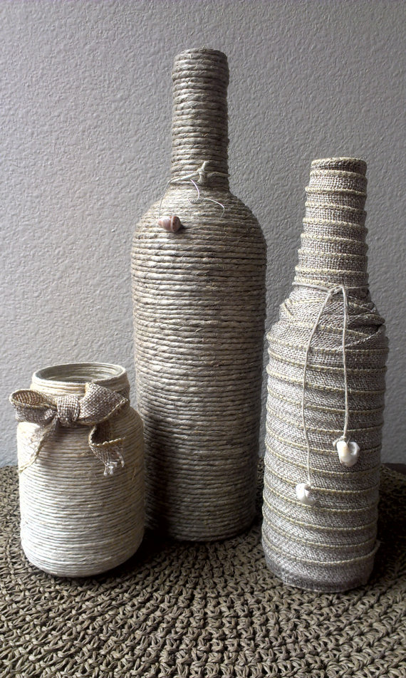 country, crafts, and glass bottles image