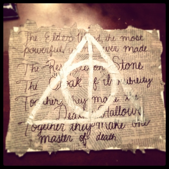 art, deathly hallows, and diy image