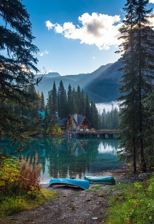 lake, nature, and house image