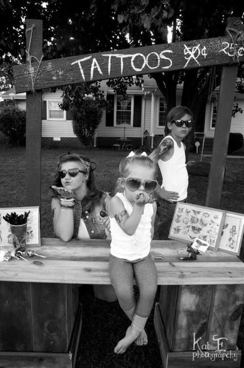 tattoo, kids, and black and white image