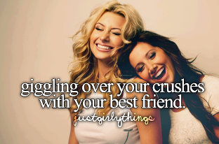 crush, friends, and giggle image