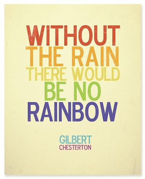 quote, rainbow, and rain image