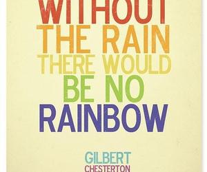 quote, rainbow, and rain image