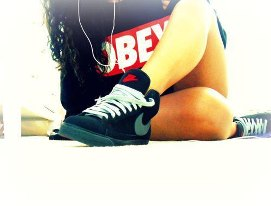 obey, girl, and nike image