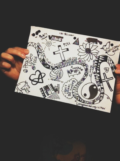 art, cool, and doodles image