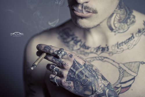 tattoo, smoke, and boy image