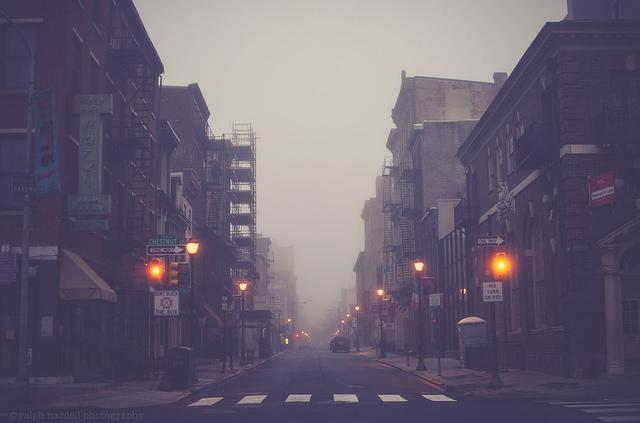 city, street, and cross image