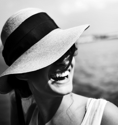hat, girl, and smile image
