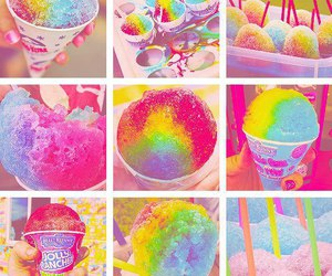 colors, food, and ice cream image