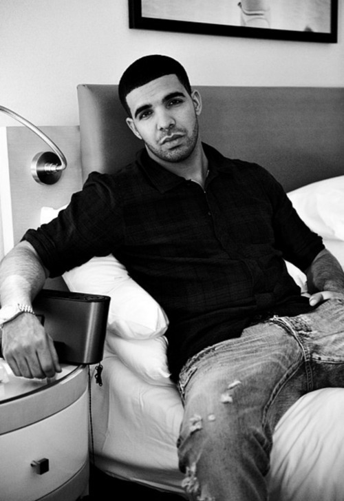 Drake, black and white, and sexy image