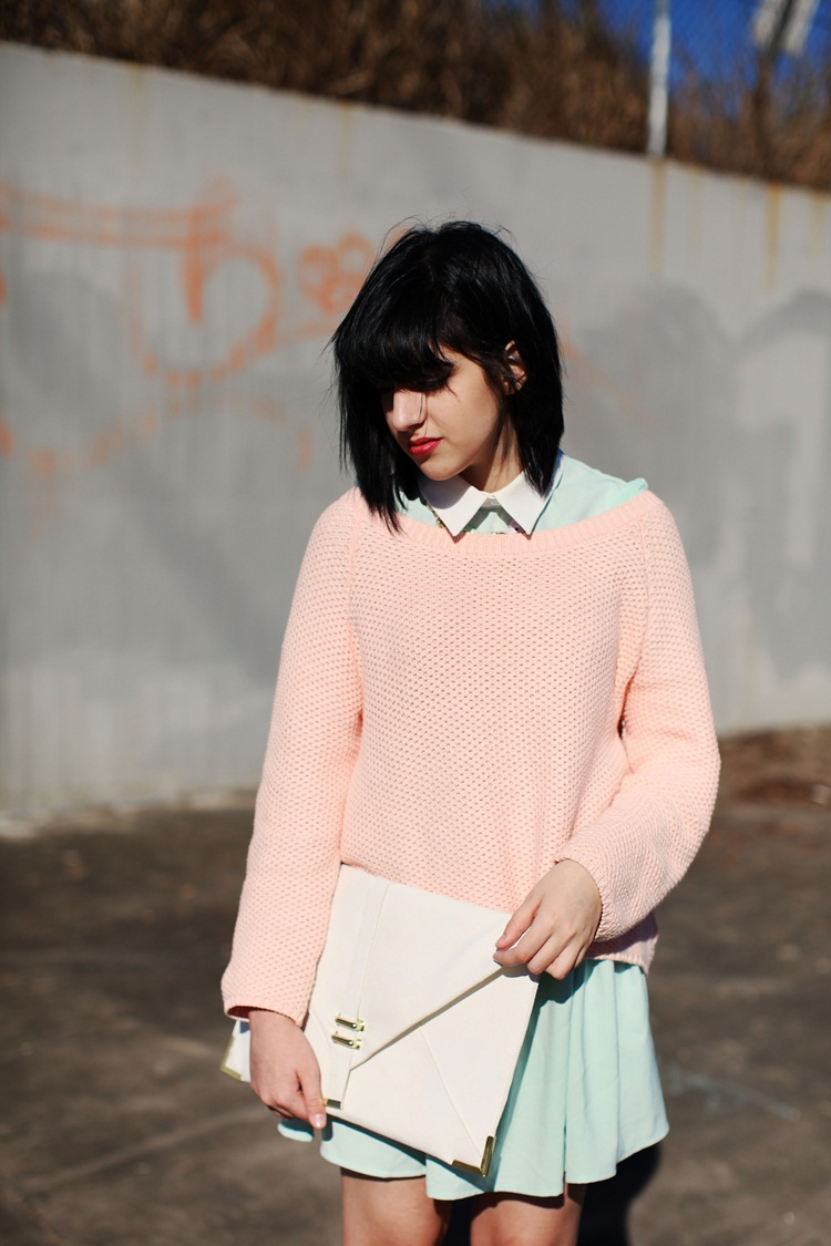 collar, fashion, and knit image