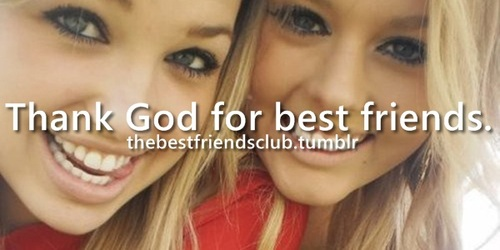 best friends, god, and thank image