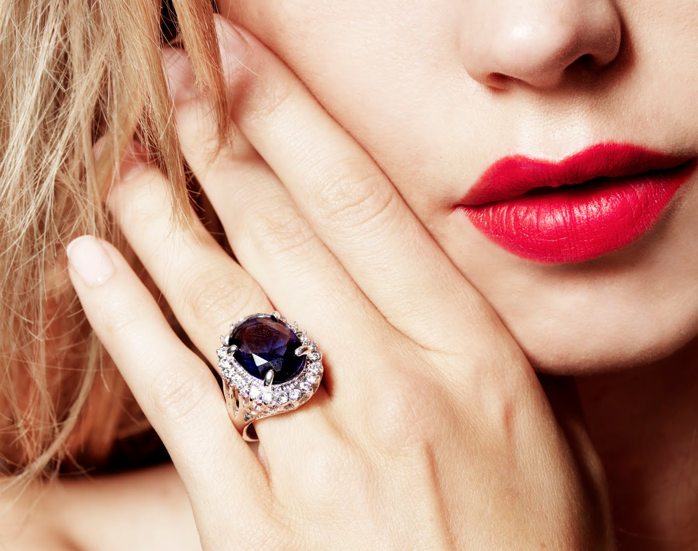 blue ring, girly, and jewlery image