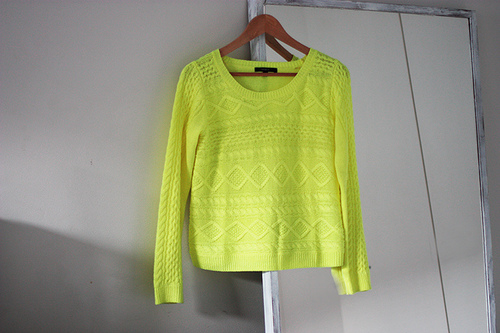 neon, sweater, and tropical image