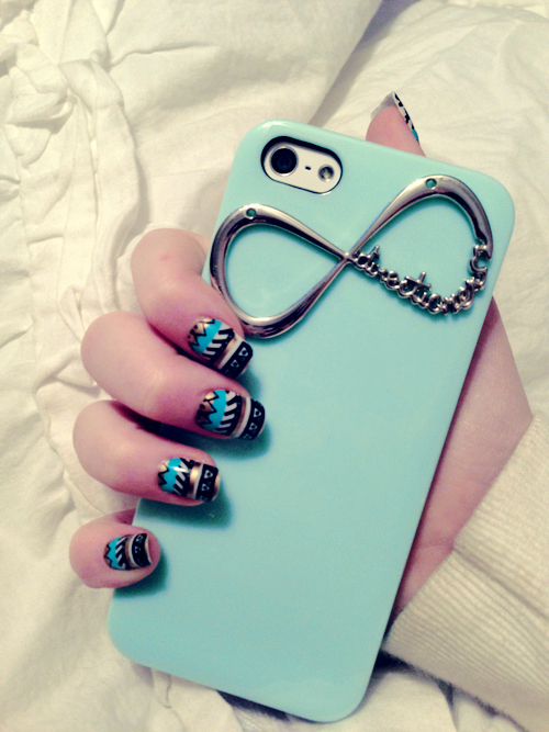 nails, iphone, and infinity image