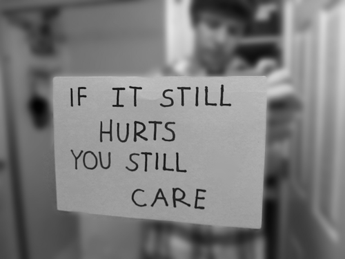 hurt, care, and quote image