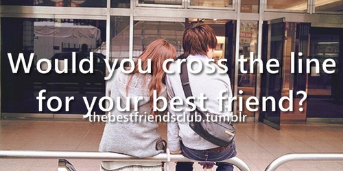 best friends, cross, and line image