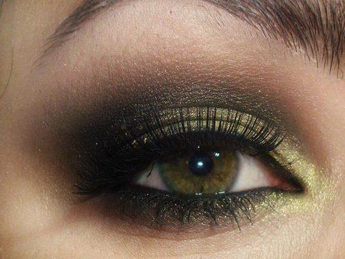 eyes, gold, and make up image