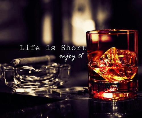 life, drink, and enjoy image