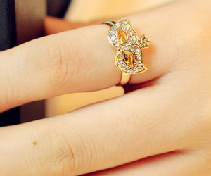 2013 New Arrives Hot Retro Fashion Forefinger Women Ladies and Girls Rose Gold Masks Crystal Rings - DualShine