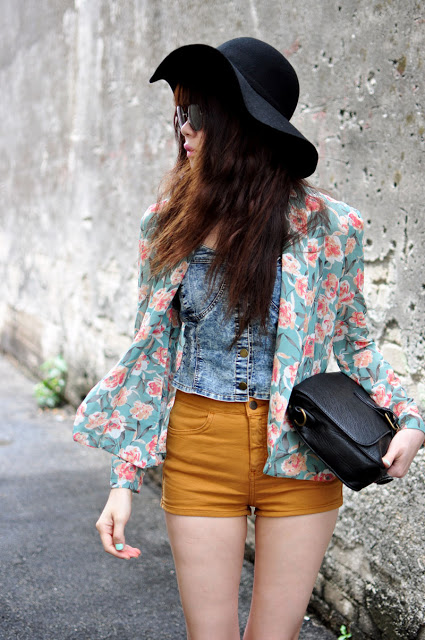 fashion, floppy hat, and outfit image