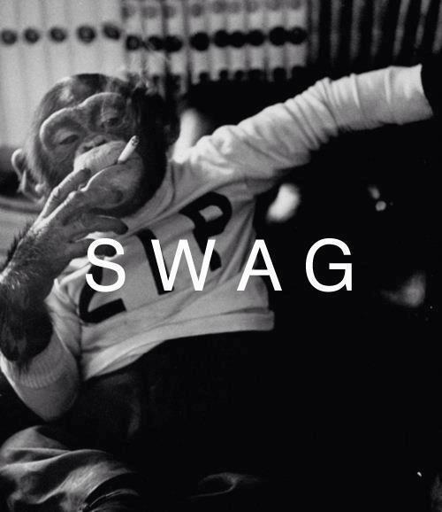 swag, monkey, and smoke image