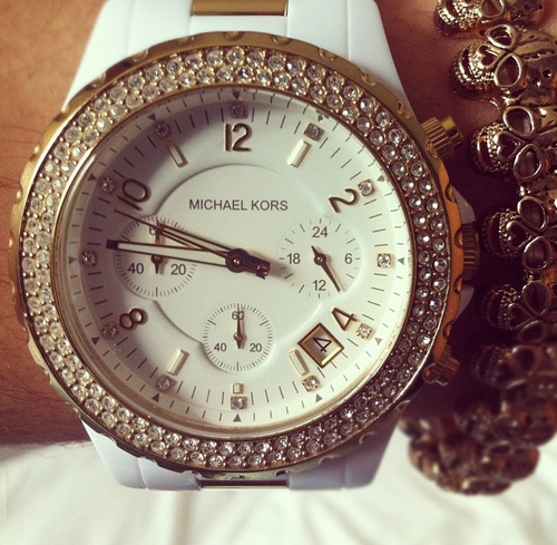 girl, watch, and white image