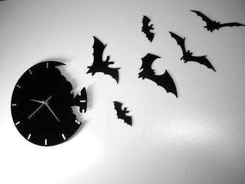 clock, bat, and black image