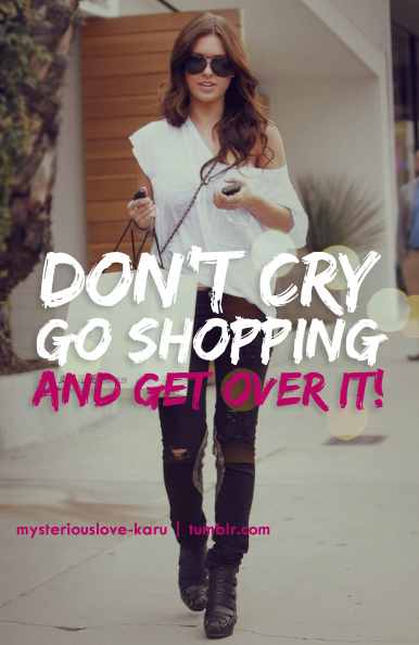 shopping, cry, and quote image