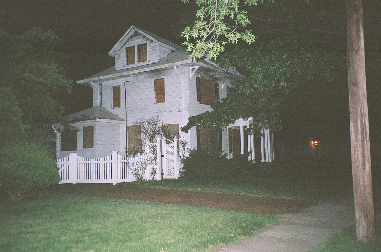 35mm, abandoned, and dark image
