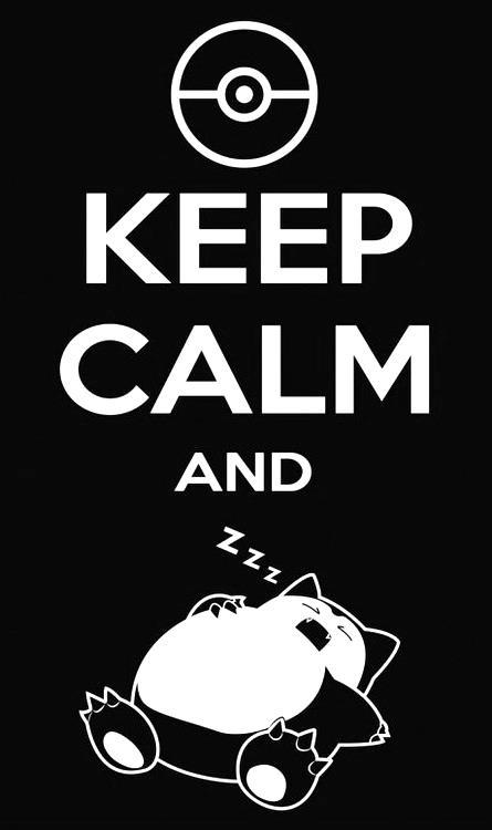 pokemon, sleep, and keep calm image