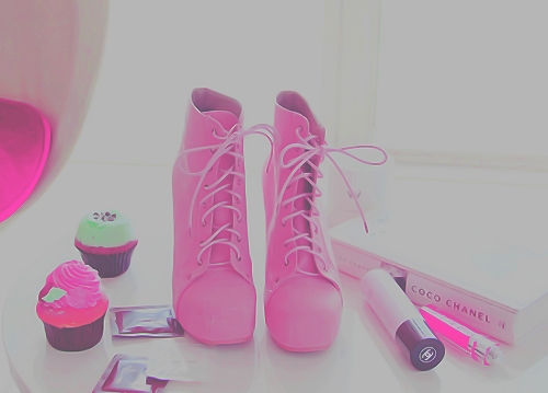 pink, shoes, and chanel image