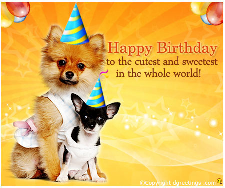 cute birthday greetings, cute birthday cards, and cute birthday wishes image