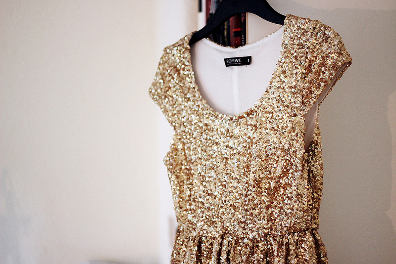 fashion, dress, and gold image