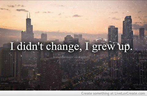 change, quote, and grew up image