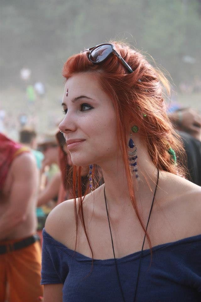 bohemian, festival, and red head image