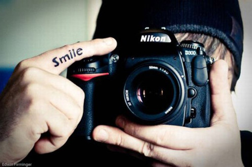 smile, camera, and nikon image
