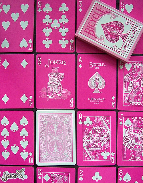 pink, cards, and joker image